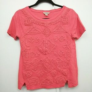 Lucky Brand   Coral Raised Stitching Texture Shirt
